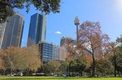 Hyde park cityscape Sydney Australia. Hyde park cityscape in Sydney Australia Stock Image