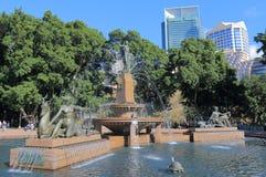 Hyde park cityscape Sydney Australia. Hyde park cityscape in Sydney Australia Royalty Free Stock Image