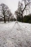 Hyde Park en invierno imagenes de archivo
