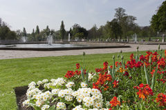 Hyde park flowers. The Italian Fountains in Hyde Park, London, England Stock Photography