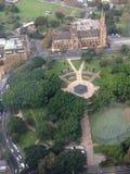 Hyde Park flyg- sikt Royaltyfria Bilder