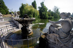 Hyde Park Fountain. View of the Long Water, in Kengsington Gardens, London Stock Image