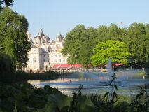 Hyde Park and the hotels behind Royalty Free Stock Photography