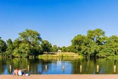 Hyde park lakeside Stock Photo