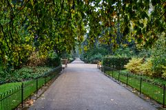 Hyde Park London at autumn royalty free stock image