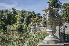 The Hyde Park, London. This image shows a fountain in the Hyde Park on a sunny day Stock Images