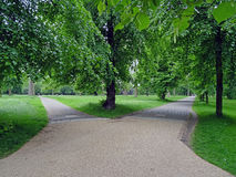 Hyde Park London. Located in central London, Hyde Park has an area of 140 hectares. It is the largest park in the city and is very apreciated by the Londoners Stock Photography