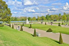 Hyde Park London. Photo of Hyde Park from Kensington Palace in London, UK Stock Photo