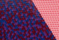 Close up of Mastaba art installation by Christo, floating on the Serpentine Lake in Hyde Park royalty free stock photos