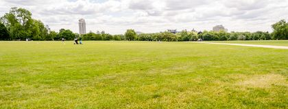 Hyde Park, London, UK. Large lawn in Hyde Park, London, UK Stock Photography