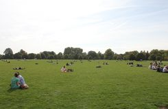 Hyde Park in London Stock Photo