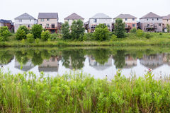 Hyde Park Neighborhood water pond Royalty Free Stock Photography