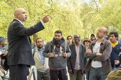 Hyde Park Speakers Corner a Londra Immagine Stock