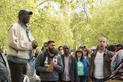 Hyde parka mówców kąt w Londyn Obrazy Royalty Free