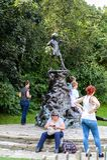 Hyde Parkuje, jeden wielcy parki w Londyn obraz stock