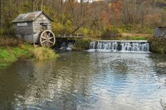 Hyde`s Mill. A view of Hyde`s Mill near Ridgeway, Wisconsin royalty free stock images