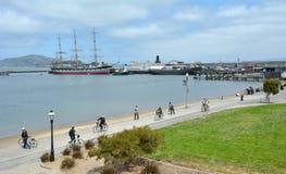 Hyde Street Pier in molo del pescatore a San Francisco - CA fotografia stock libera da diritti