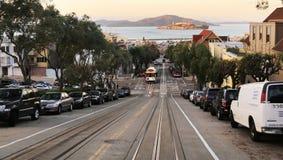Hyde street in San Francisco, CA stock photos