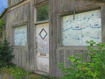 Hyder, costruzione del bordo della strada dell'Alaska Immagini Stock
