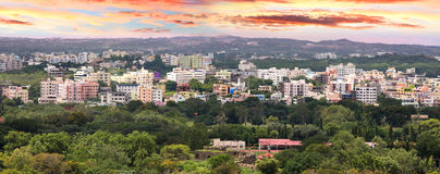 Hyderabad. Panoramic view of Hyderabad city in India Royalty Free Stock Photography