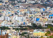 Hyderabad aeril view. Hyderabad, INDIA - December 16 : Hyderabad is the fourth most populous city and sixth most populous urban agglomeration in India, on Royalty Free Stock Photography