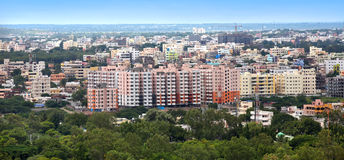Hyderabad city. Panoramic view of Hyderabad city in India Stock Photography