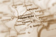 Hyderabad, a city in India. Hyderabad, a city in the Republic of India selective sepia focus stock photography