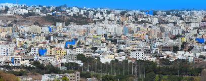 Hyderabad city in India. HYDERABAD INDIA -December 16 : Hyderabad is fifth largest contributor city to India`s GDP with US $74 billion . On December 16,2016 royalty free stock photos
