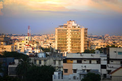 Hyderabad cityscape. HYDERABAD INDIA - September 1 : Hyderabad is fifth largest contributor city to India's GDP with US$74 billion . On September 1,2012 stock photos