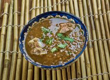 Hyderabad Daal Gosht. Mutton With Bottle Gourd , Lentils Stock Photography