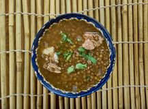 Hyderabad Daal Gosht. Mutton With Bottle Gourd , Lentils Royalty Free Stock Photography