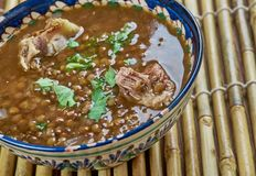 Hyderabad Daal Gosht. Mutton With Bottle Gourd , Lentils Stock Image