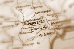 Hyderabad en stad i Indien arkivbild
