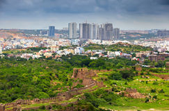 Hyderabad financial district. HYDERABAD INDIA - August 29 : Hyderabad is fifth largest contributor city to India's GDP with US$74 billion . On August 29,2012 royalty free stock images