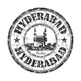 Hyderabad grunge rubber stamp Stock Image