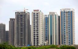 Hyderabad höga löneförhöjninglägenheter arkivfoto