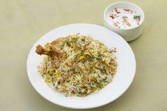 Hyderabad höna Biryani arkivfoto