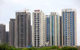 Hyderabad high rise apartments Stock Photo