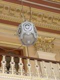 Hyderabad, Inde - 1er janvier 2009 lustre argenté antique de couleur au palais de Chowmahalla Photos stock