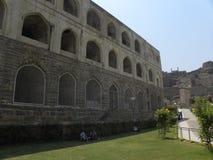 Hyderabad, Inde - 1er janvier 2009 Silah Khana, un bâtiment trois storeyed au fort de Golconda Image stock