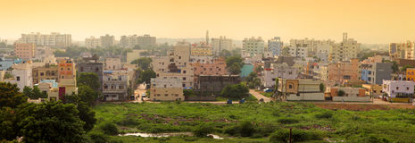 Hyderabad India. Panoramic view of apartment homes in Hyderabad India Stock Photos