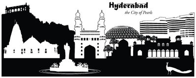 Hyderabad, India ilustração stock
