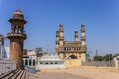 Hyderabad India. Charminar and Mecca Masjid, Hyderabad, India Royalty Free Stock Photography