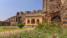 Golkonda Fort - Hyderabad - India. Historical architecture at Golkonda Fort, Hyderabad, India Stock Images