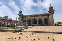Hyderabad India. Mecca Masjid at Hyderabad, India stock image