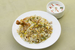 Hyderabad Kip Biryani stock foto