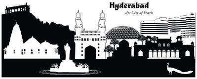 Hyderabad, la India stock de ilustración