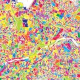 Hyderabad, la India, mapa colorido del vector libre illustration
