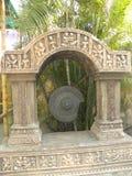 Hyderabad, la India - Metal 1 de enero de 2009 el gongo quebrado en la película CIT de Ramoji Fotos de archivo libres de regalías