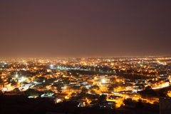 Hyderabad at night. View of Hyderabad at night from Falaknuma Palace, Andhra Pradesh, India Royalty Free Stock Image